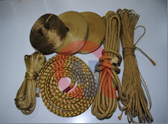 China F-12 Stranded Rope And Aramid Fiber Rope With Various Diameter And Length supplier